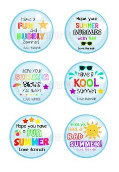 End of School Year Printable Tags