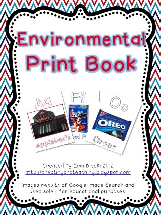 8 Images of Printable Environmental Print Book