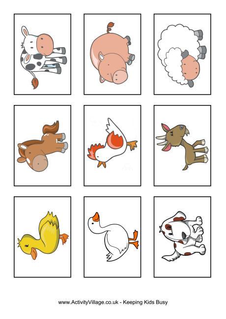 9 Images of Printable Farm Animal Flash Cards