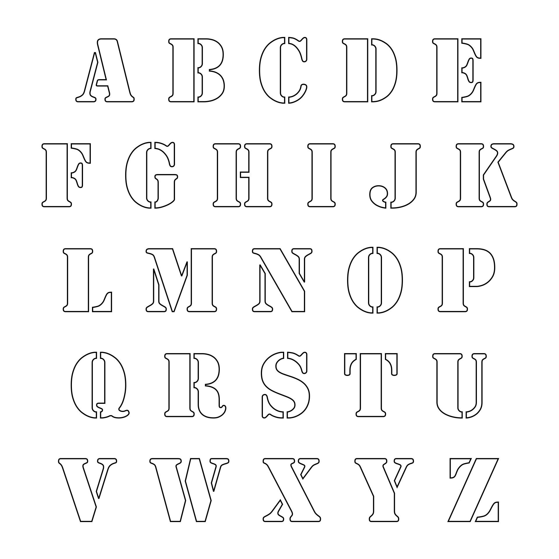 Best images of free printable fancy alphabet letters