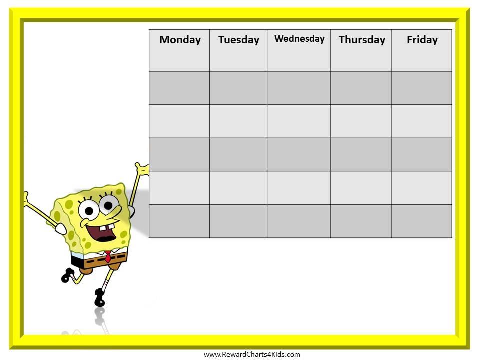 ... , Printable Behavior Weekly Chart & Printable Sticker Reward Chart