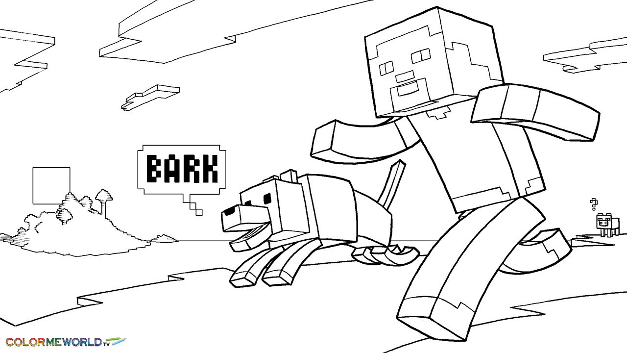 8 Images of Free Printable Minecraft Coloring Sheets