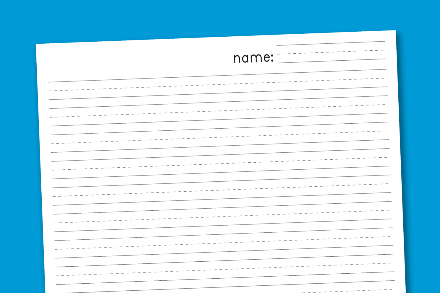 6 Images of Free Printable Primary Writing Paper