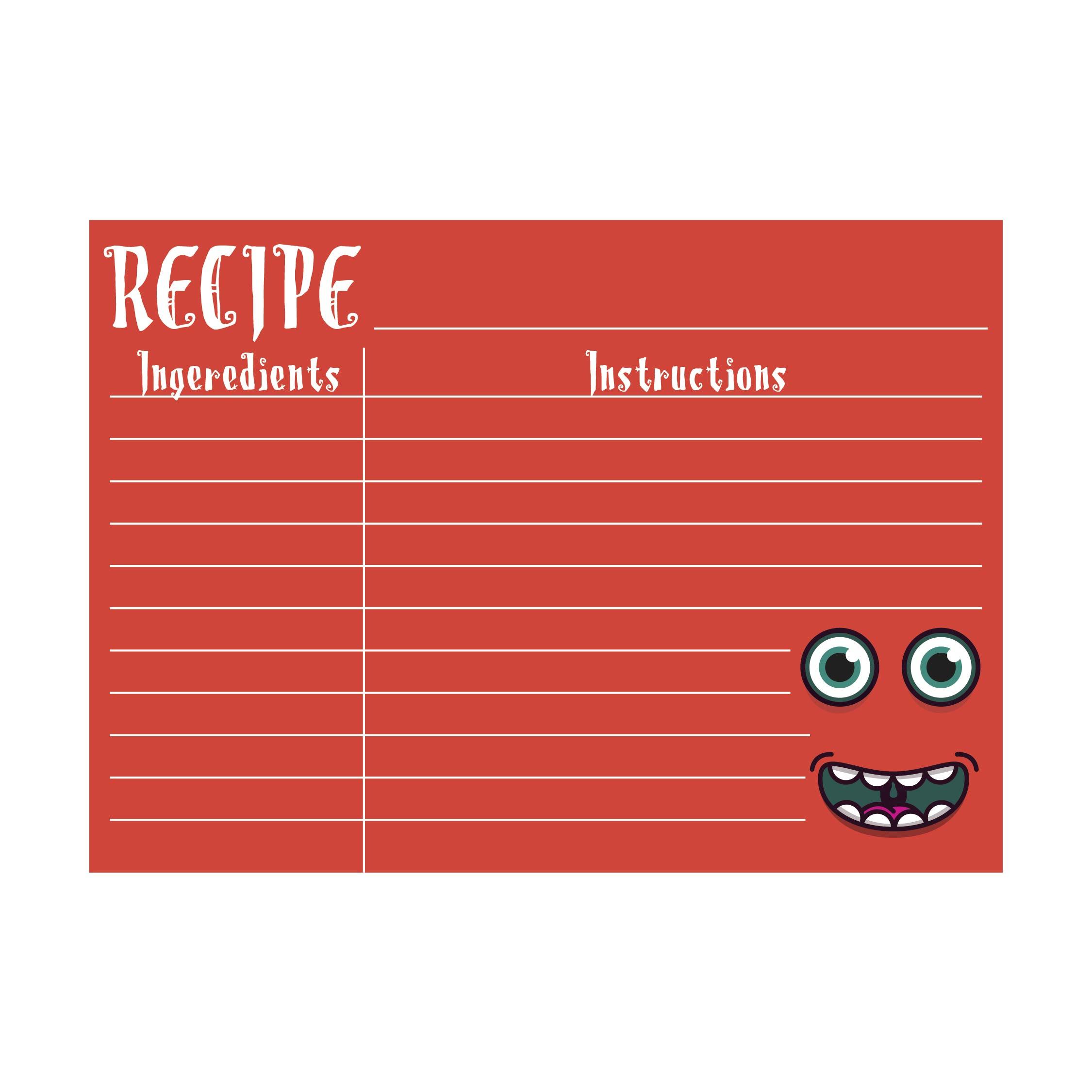 Printable 5X7 Recipe Card Template