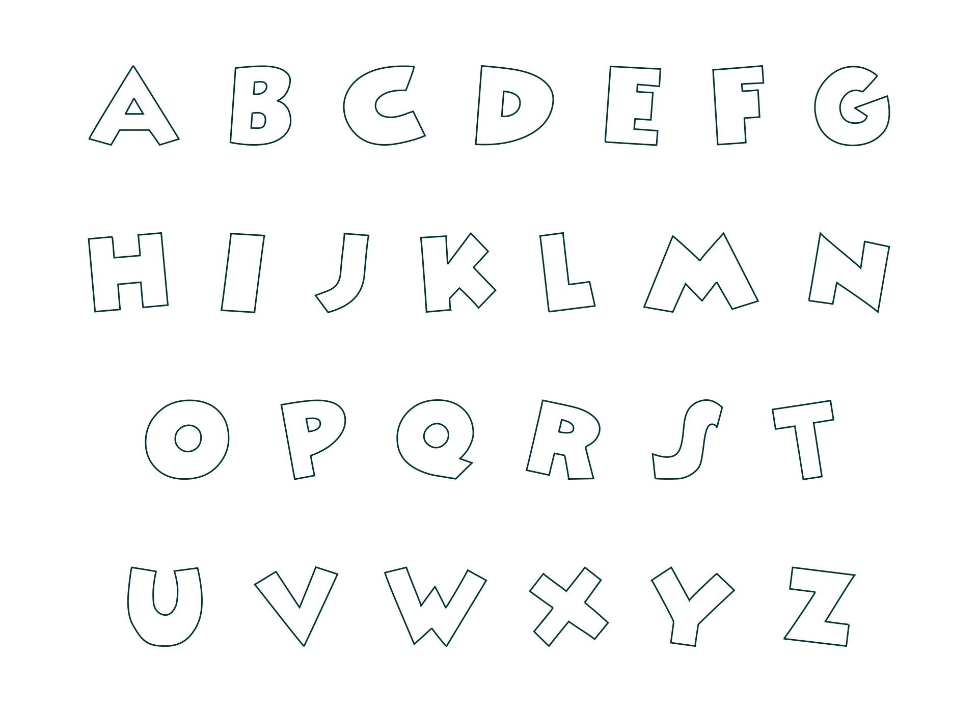 9 best images of free printable fancy alphabet letters for Fancy alphabet letter templates