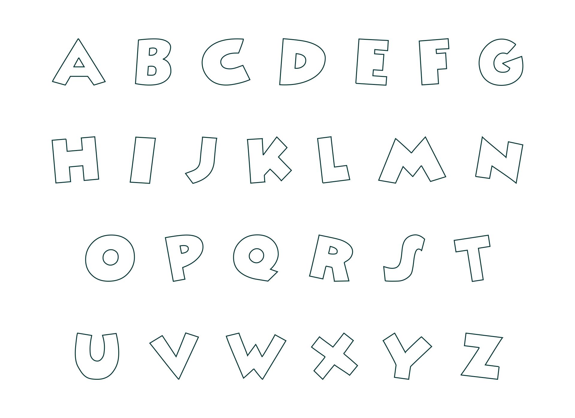 Printable Alphabet Letter Stencils