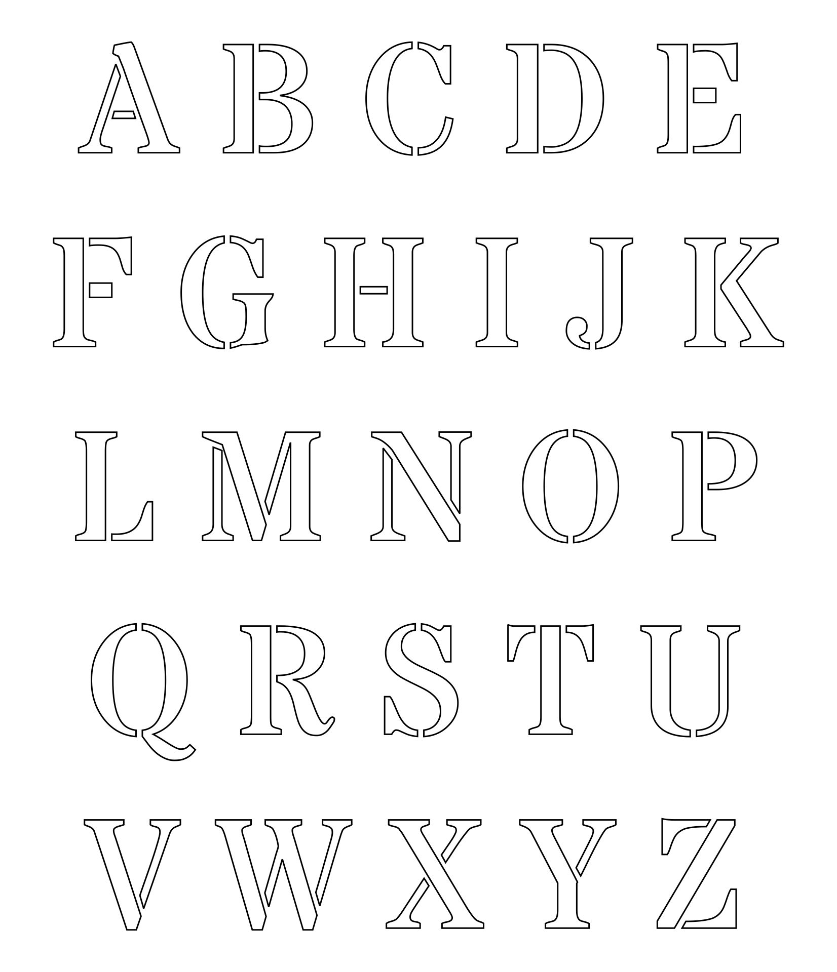Printable Alphabet Stencil Letters Template
