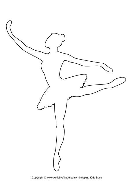 4 Images of Printable Ballerina Templates
