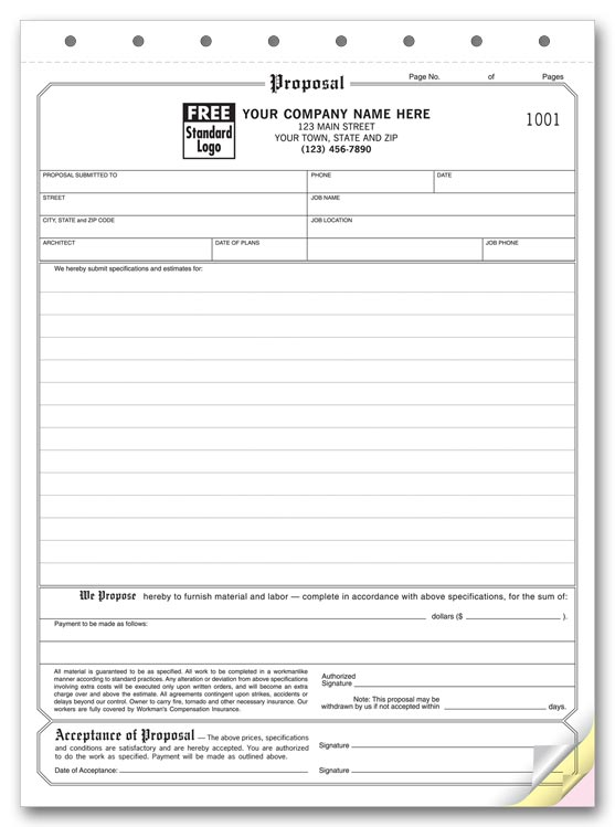 8 Images of Free Printable Proposal Forms