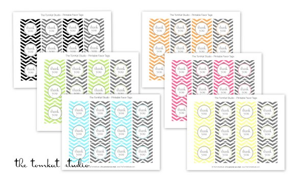 6 Images of Chevron Printable Thank You Tags