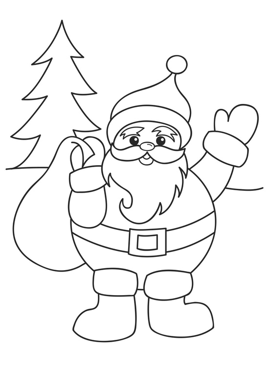 6 Images of Christmas Coloring Printables Free