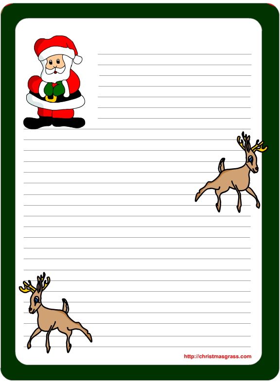 4 Images of Free Printable Christmas Note Paper