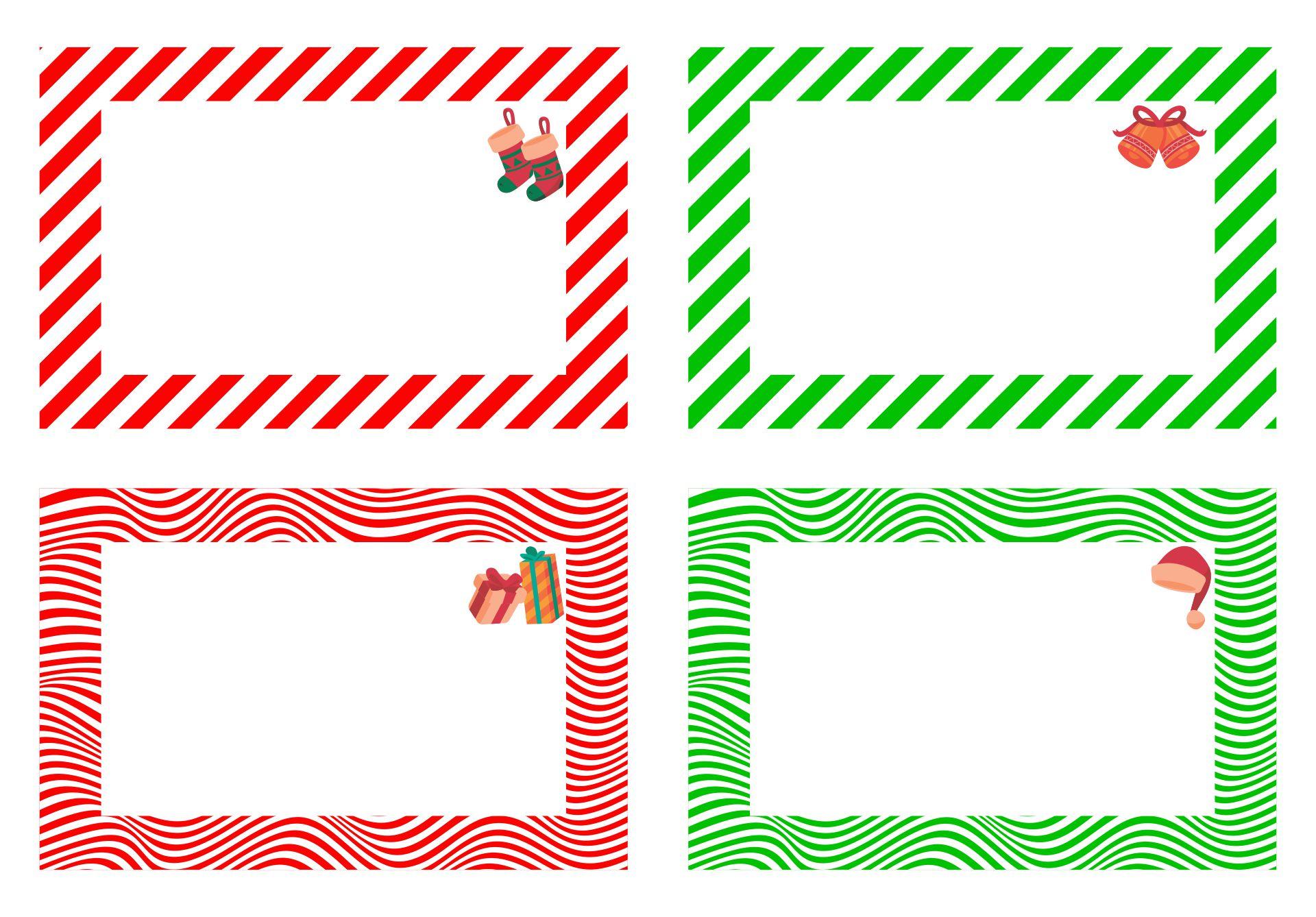 Free Printable Christmas Name Tags
