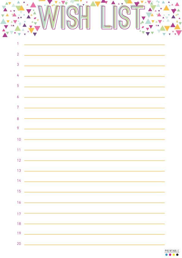Free Printable Christmas Wish List Templates