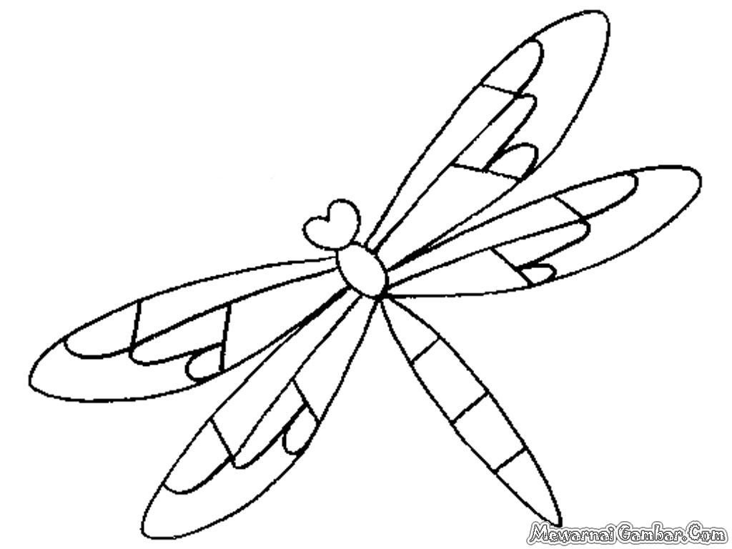 4 Images of Free Printable Dragonfly Template