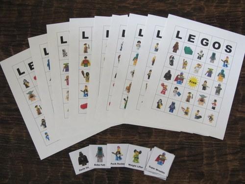 6 Images of Printable LEGO Bingo Game