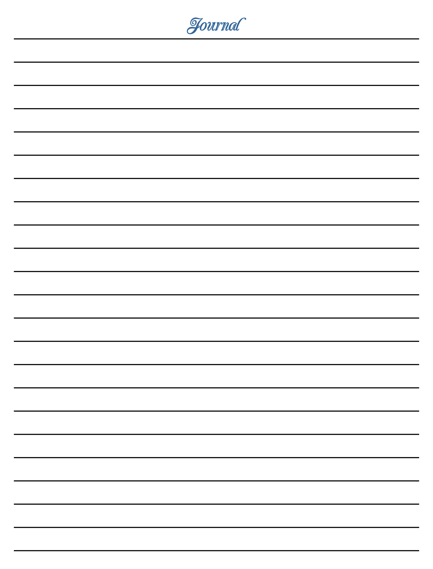 Free Printable Lined Journal Paper