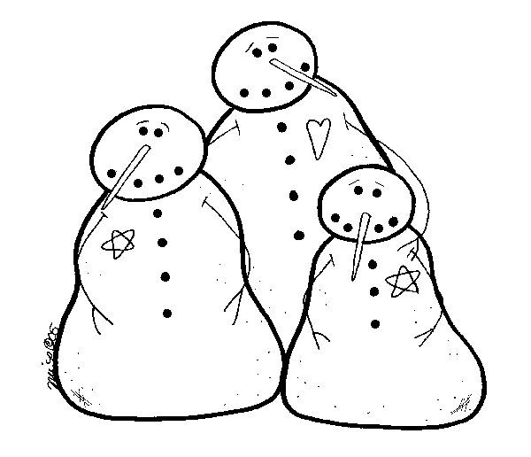 9 Images of Primitive Snowman Patterns Free Printable