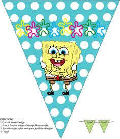 7 Images of Free Printable Spongebob Birthday Banner