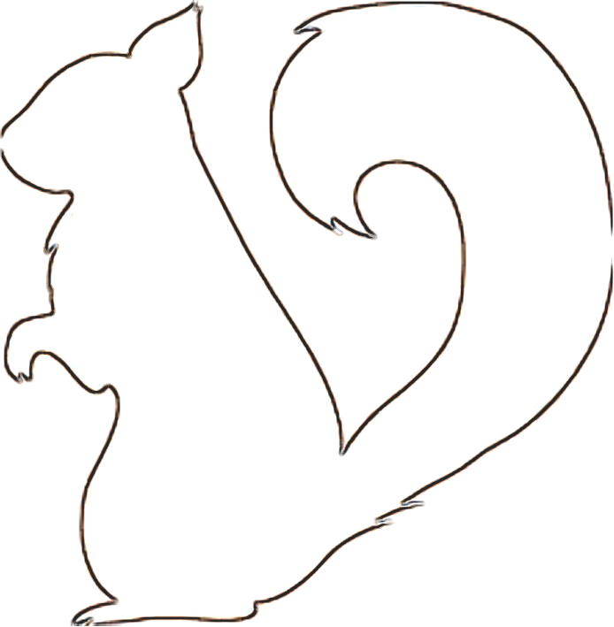 5 Images of Printable Squirrel Pattern