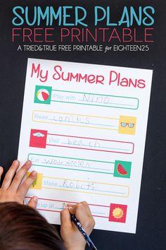 Free Printable Summer Planner
