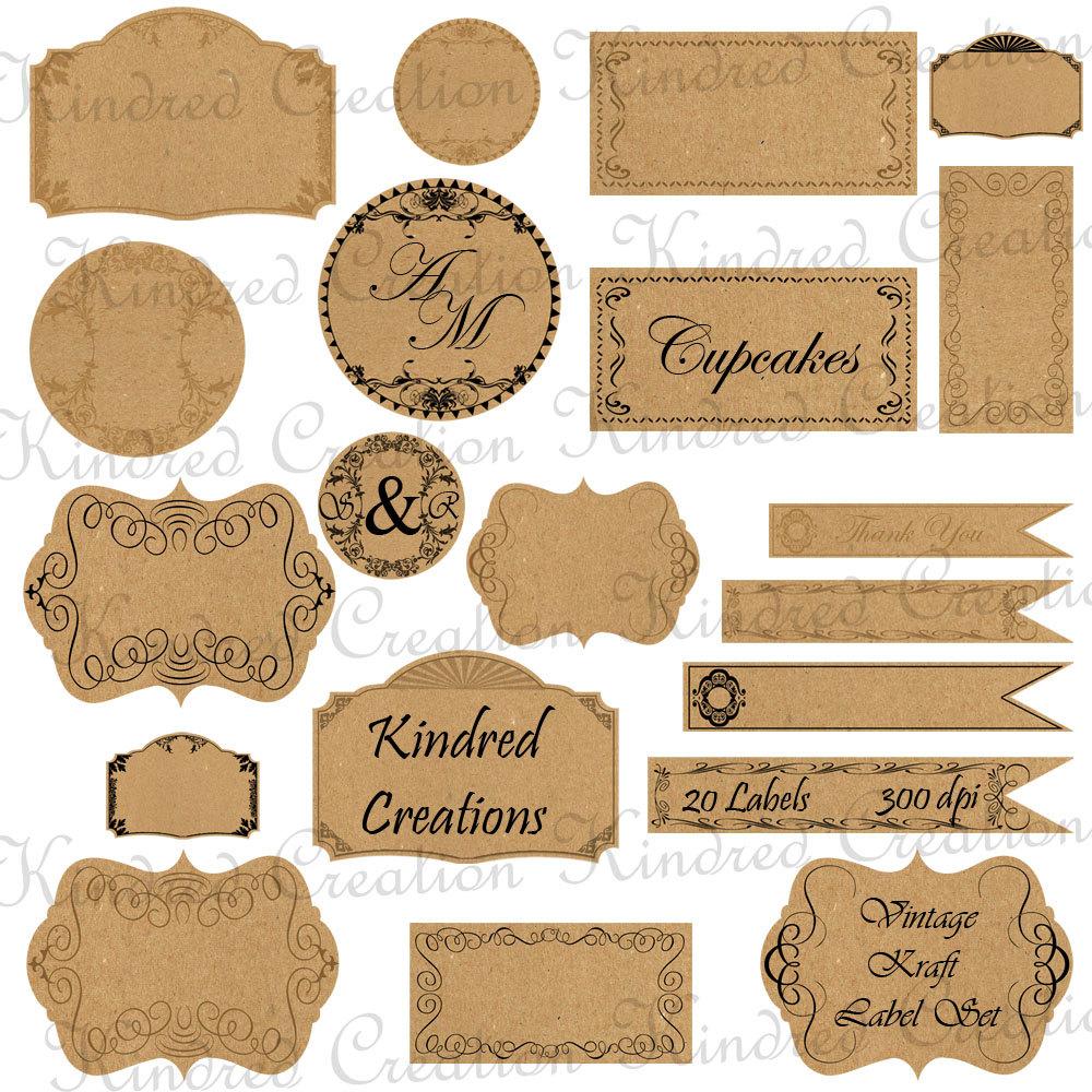 Tag Templates Printable - Free Printable Vintage Gift Tags Templates ...