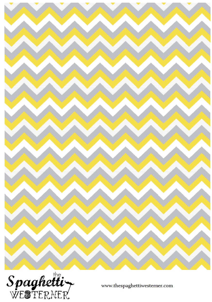 7 Images of Free Printable Yellow Chevron Paper