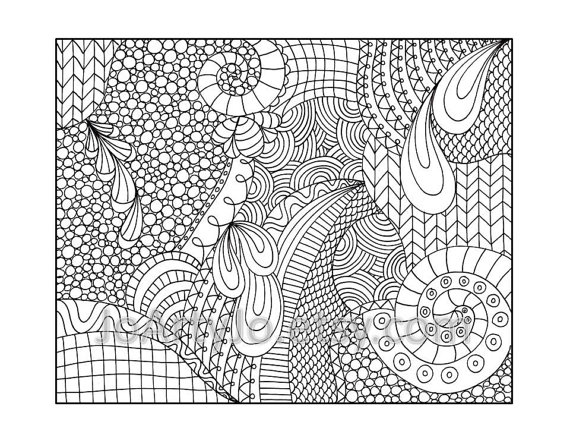 6 Images of Printable Zentangle Patterns Coloring Pages