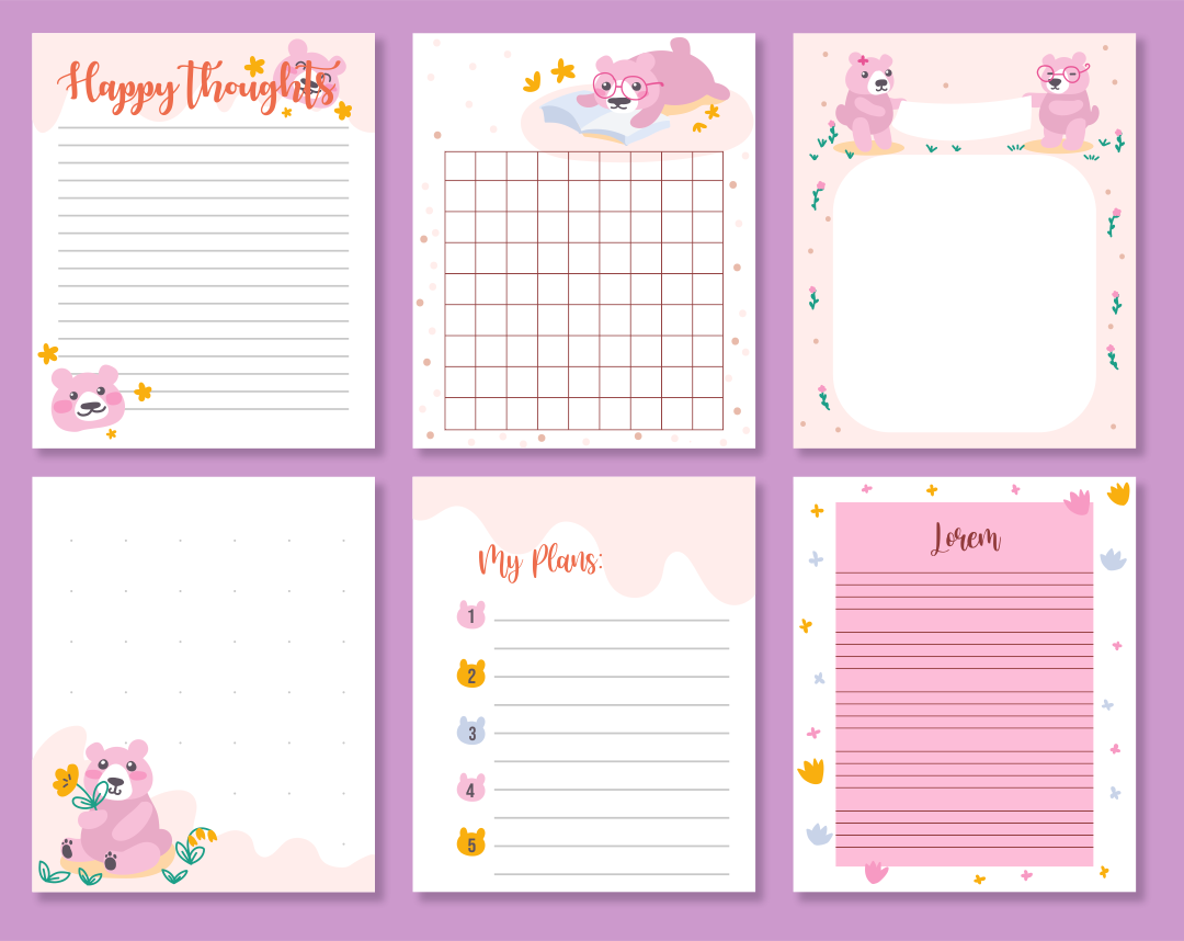 5 Images of Free Printable Scrapbook Templates