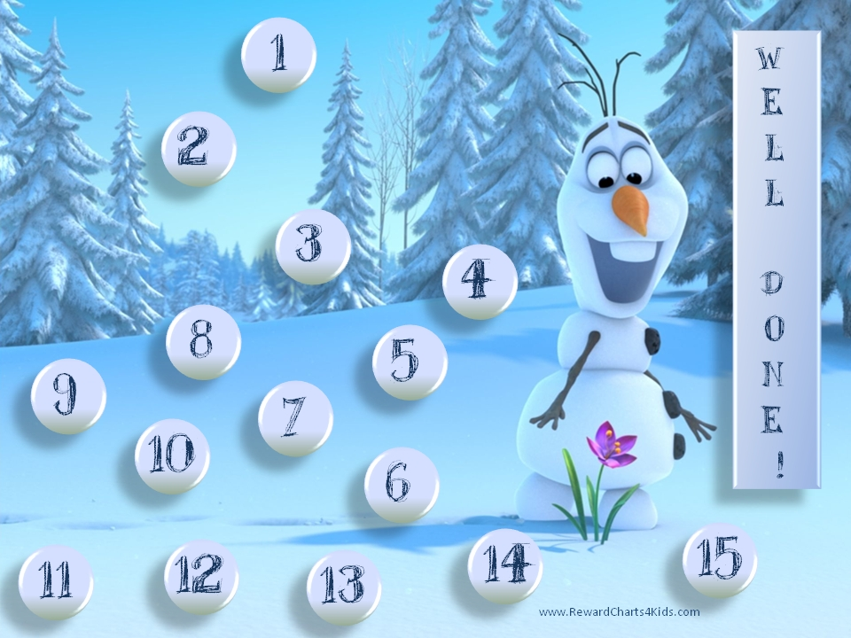 8 Images of Frozen Printable Sticker Reward Chart