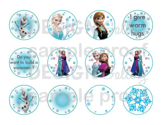 7 Images of Disney's Frozen Printable Cupcake Toppers