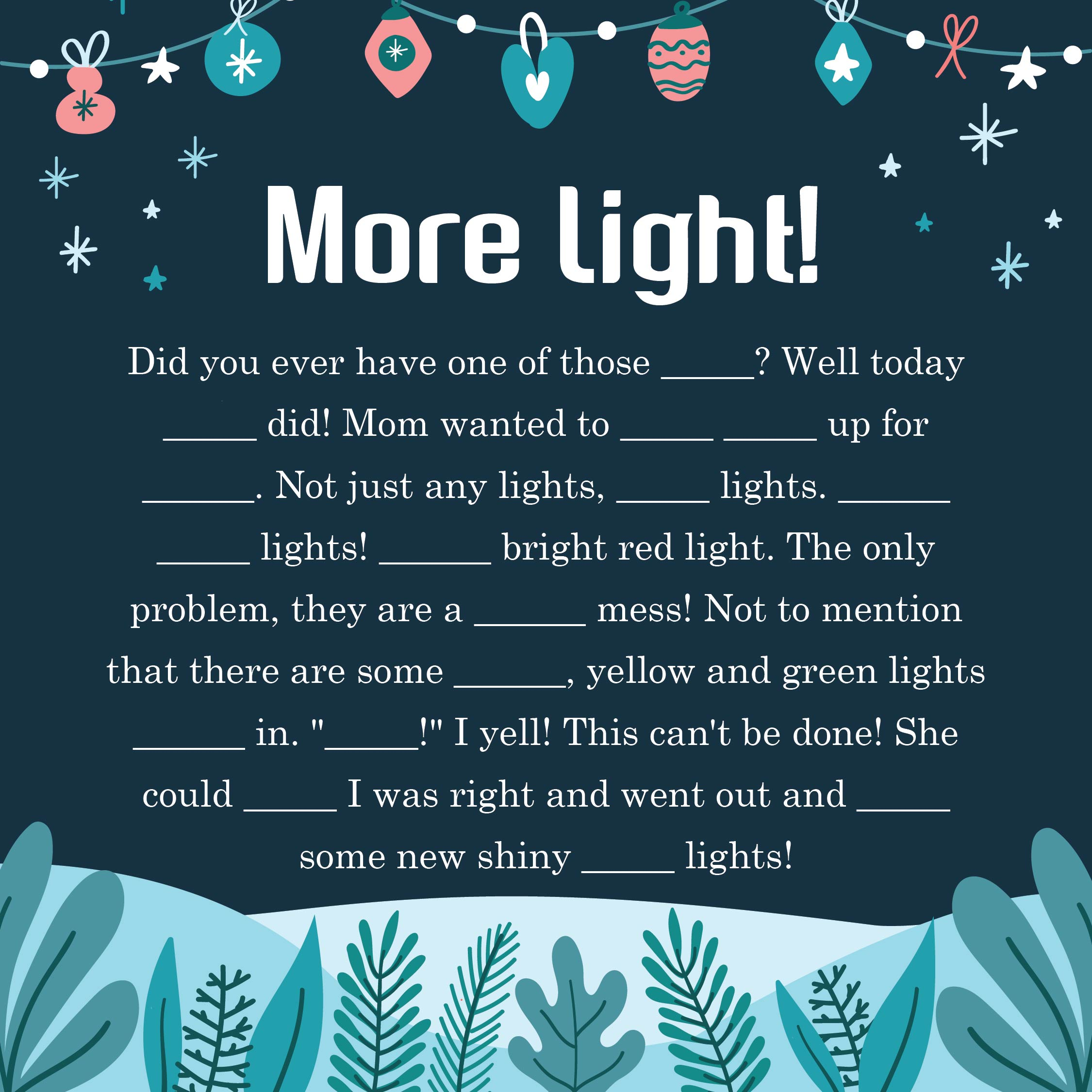 5 Images of Free Christmas Mad Libs Printables