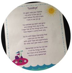 Goodbye Poem Teacher Student