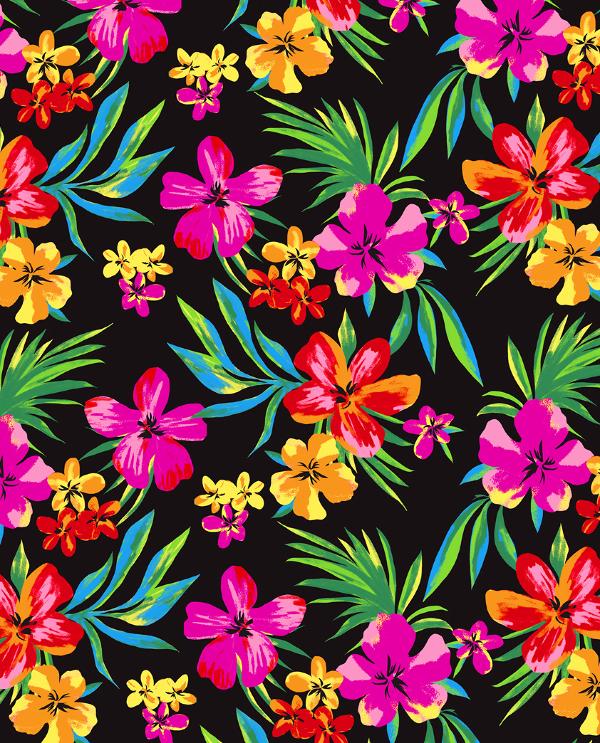 Hawaiian Tropical Flower Print