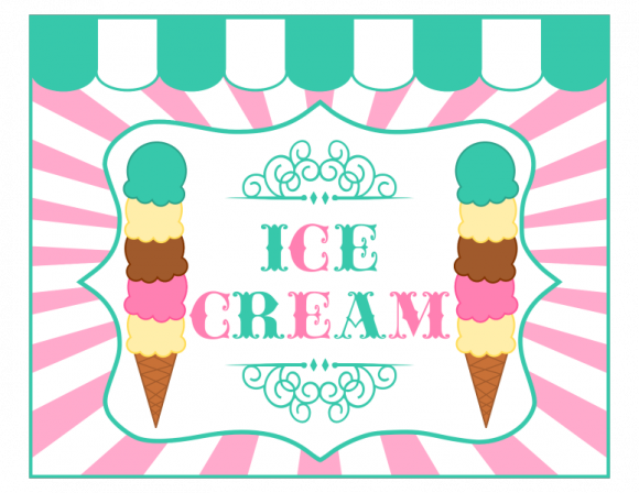 9 Images of Ice Cream Signs Printable