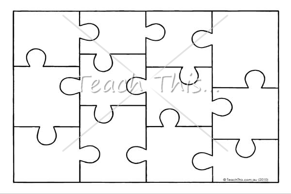 8 Images of Jigsaw Puzzle Template Printable