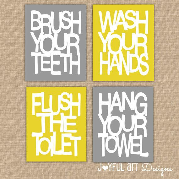 5 Images of Printable Bathroom Rules Wall Art