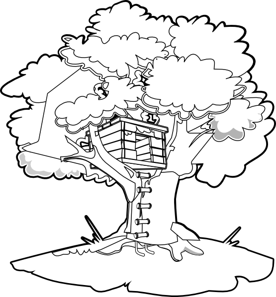 4 Images of Tree House Coloring Pages Printable