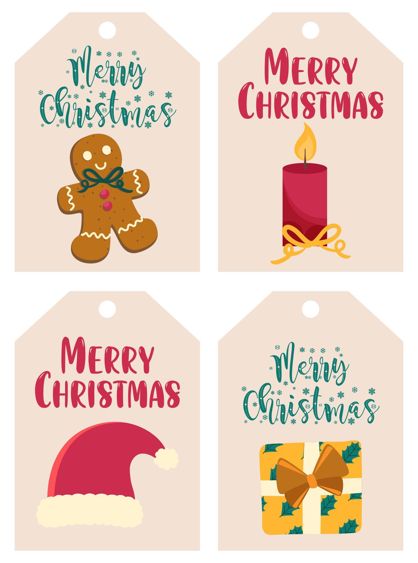 Merry Christmas Gift Tags Printable Free