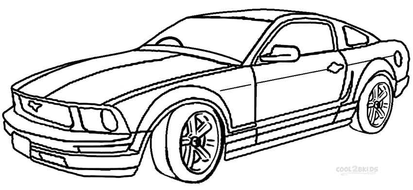 mustang coloring pages to print - photo#13