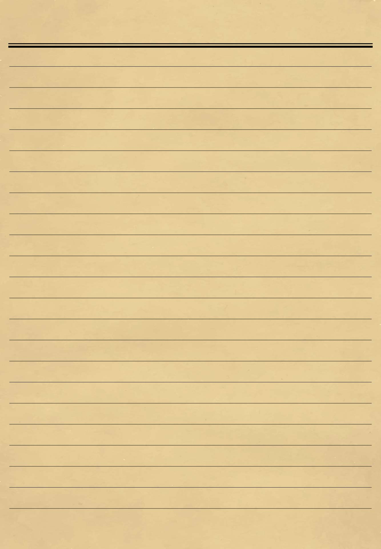 Old Lined Paper Template for Free