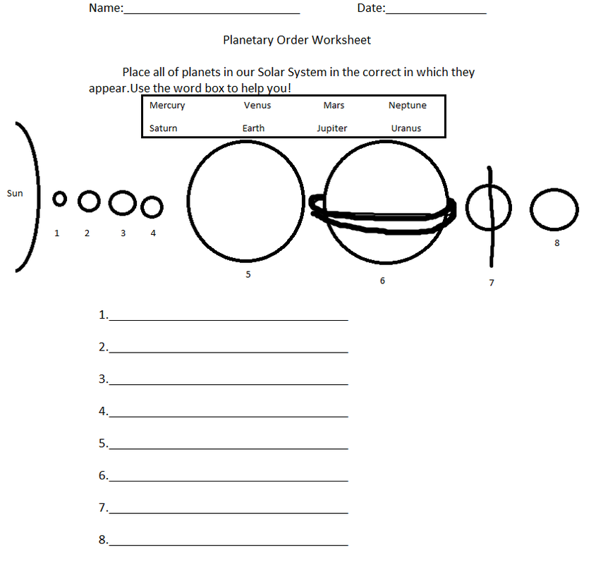 4 Best Images of Free Printable Planets Worksheets - Planets Solar ...