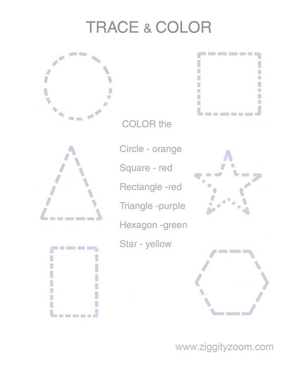 Number Names Worksheets shape worksheets for preschoolers : 5 Best Images of Printable Shape Tracing Worksheet - Preschool ...