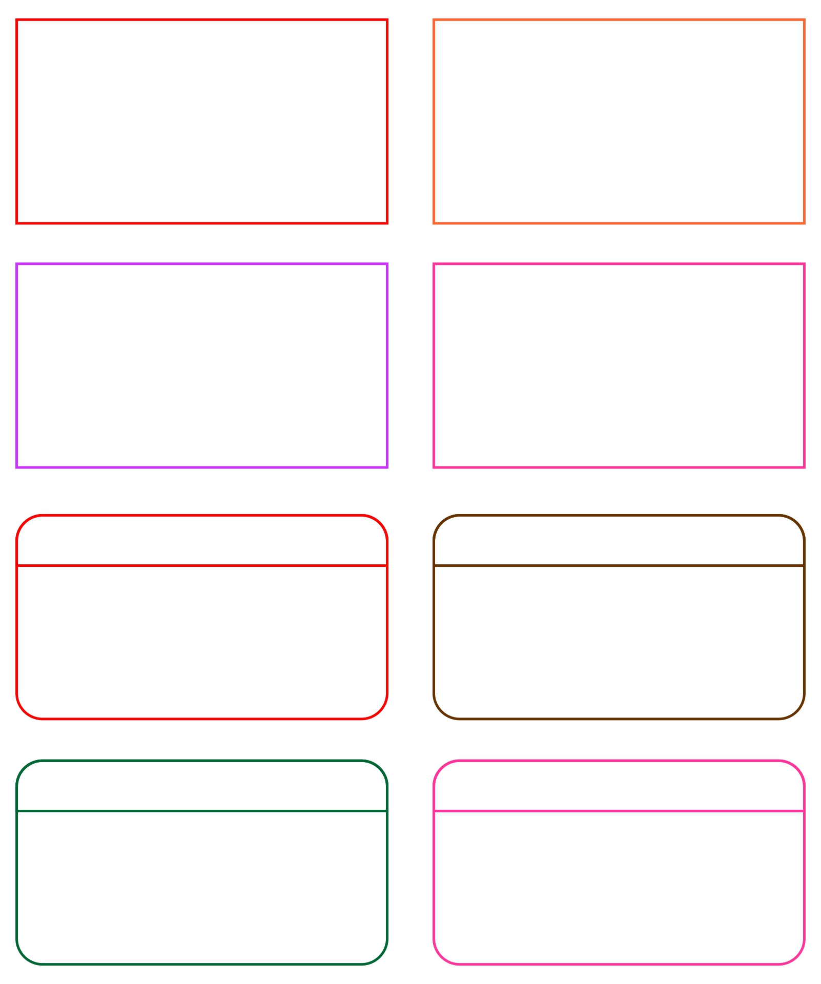 8 Images of Card Word Template Printable