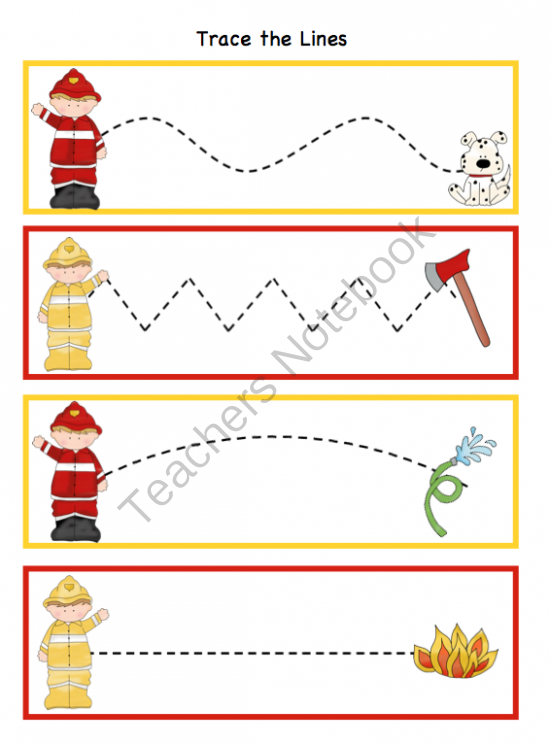 4 Images of Firefighter Preschool Printables