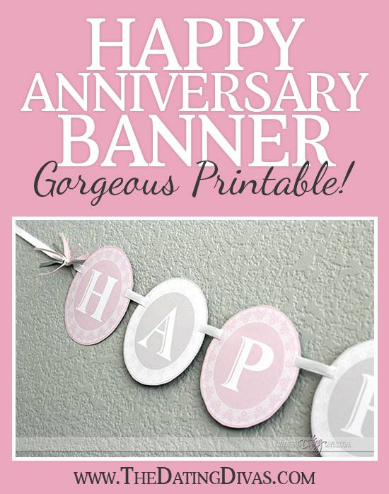 6 Images of Free Printable Happy Anniversary Banner