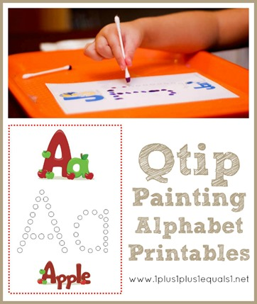 6 Images of ABC Q-Tip Painting Printables