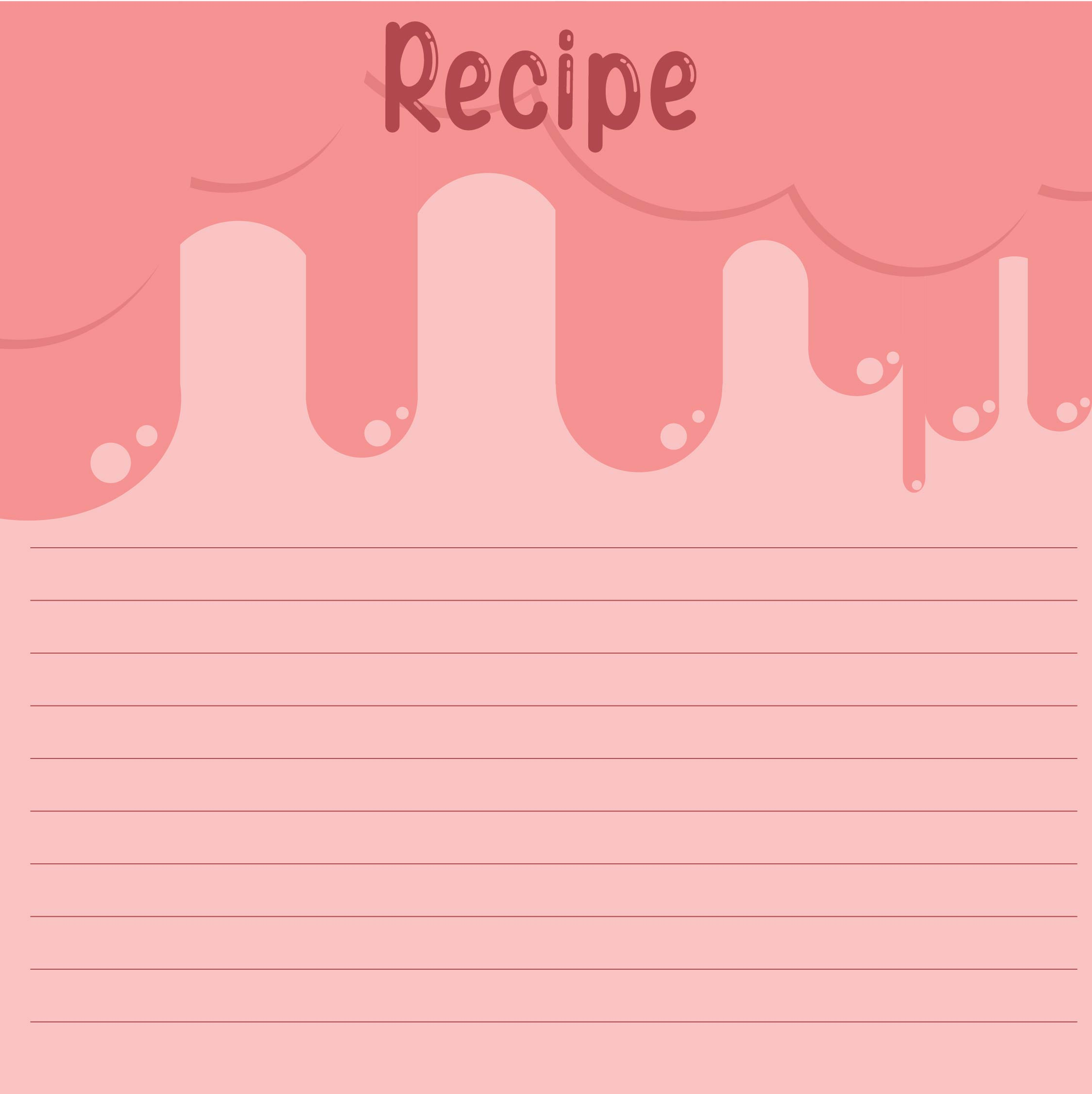 recipe card word template