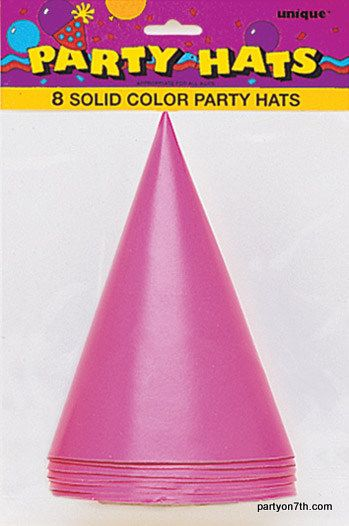 6 Images of Purple Printable Party Hats
