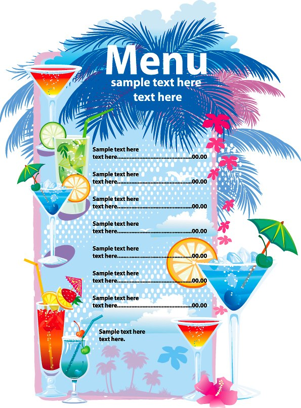 7 Images of Free Printable Menu Designs